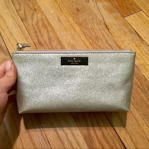 Kate Spade Silver Sparkly Makeup Bag!